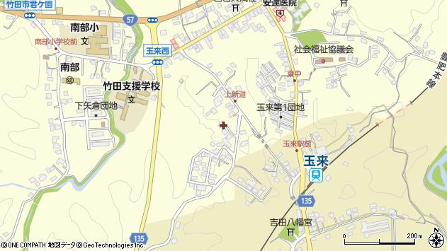 大分県竹田市玉来1168周辺の地図