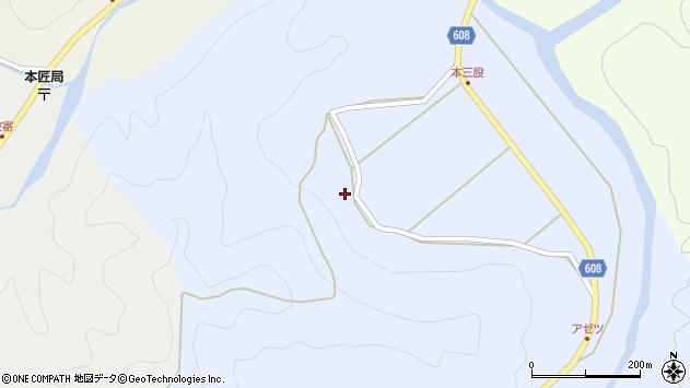大分県佐伯市本匠大字三股160周辺の地図
