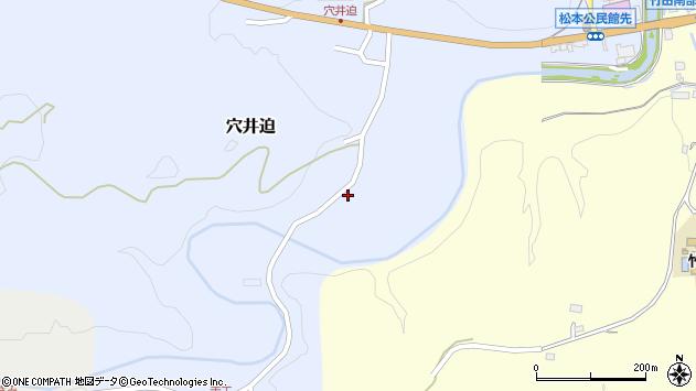 大分県竹田市穴井迫501周辺の地図