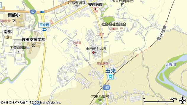 大分県竹田市玉来1213周辺の地図