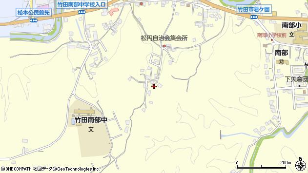 大分県竹田市君ケ園778周辺の地図