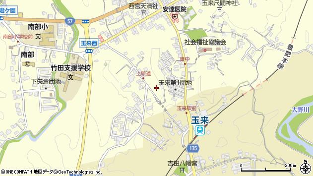 大分県竹田市玉来1197周辺の地図