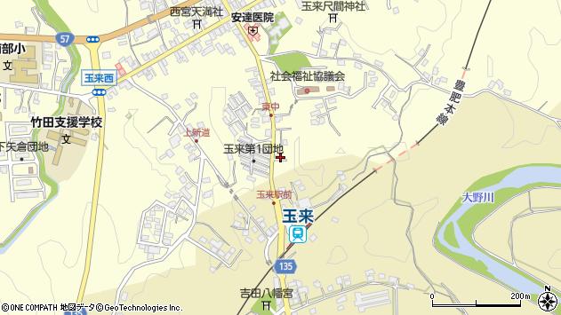 大分県竹田市玉来1277周辺の地図
