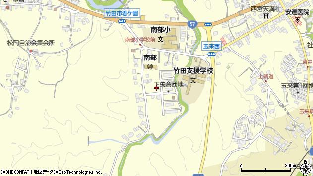 大分県竹田市君ケ園1153周辺の地図