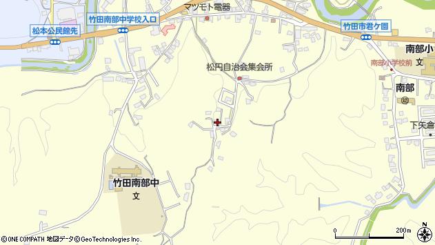 大分県竹田市君ケ園795周辺の地図