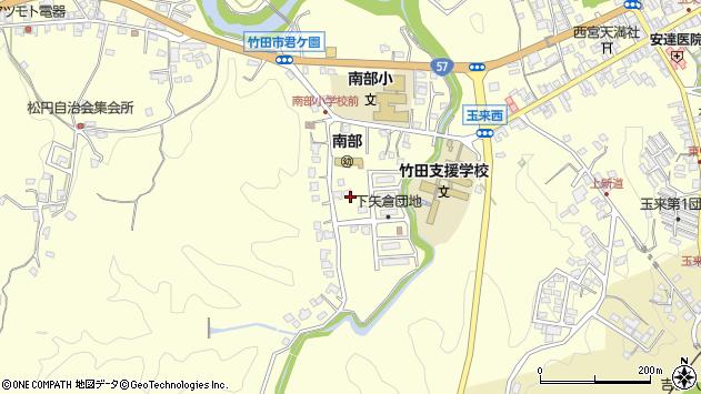 大分県竹田市君ケ園1102周辺の地図
