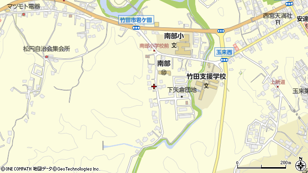 大分県竹田市君ケ園1104周辺の地図