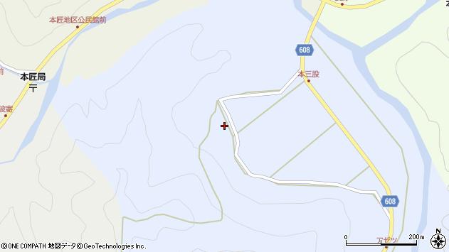 大分県佐伯市本匠大字三股183周辺の地図