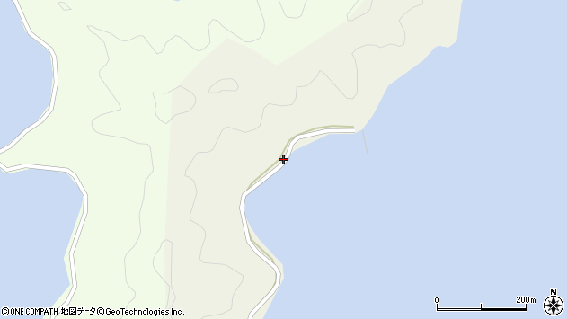 大分県佐伯市鶴見大字羽出浦206周辺の地図