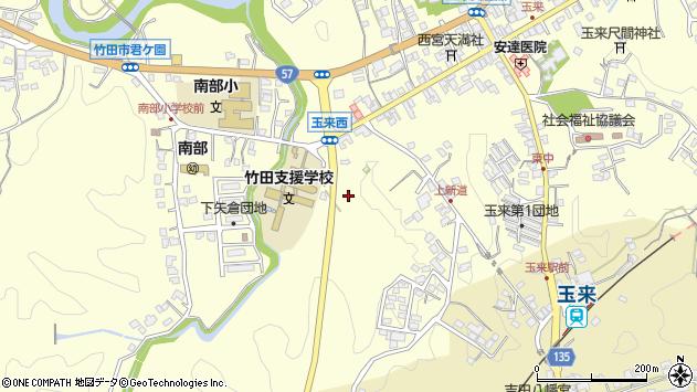 大分県竹田市玉来上ノ迫周辺の地図