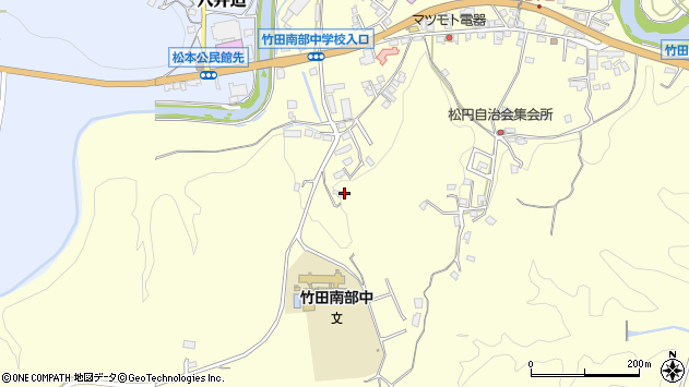 大分県竹田市君ケ園675周辺の地図