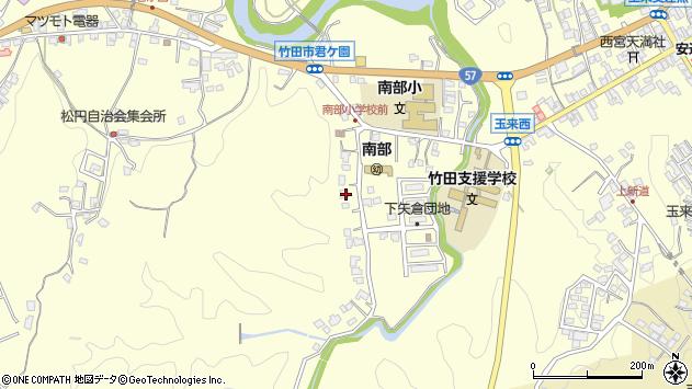 大分県竹田市君ケ園1100周辺の地図