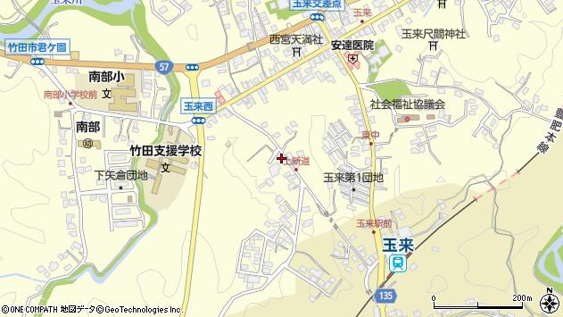 大分県竹田市玉来1158周辺の地図