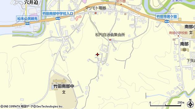 大分県竹田市君ケ園790周辺の地図