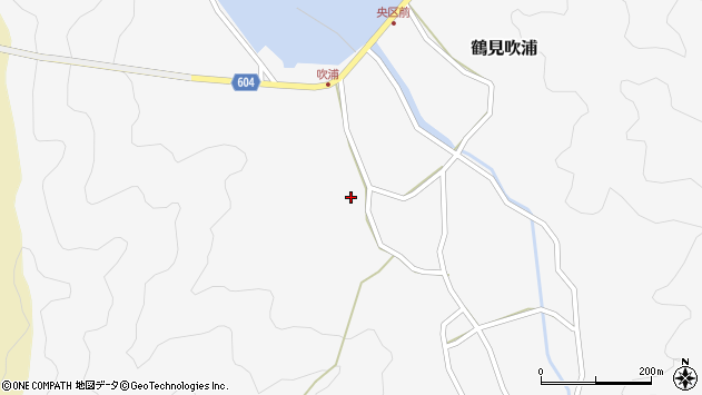 大分県佐伯市鶴見大字吹浦316周辺の地図