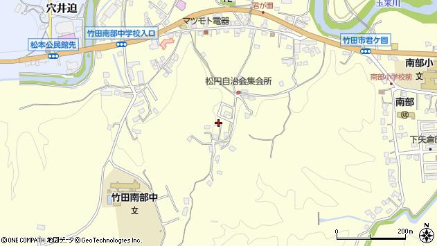 大分県竹田市君ケ園793周辺の地図