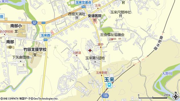 大分県竹田市玉来1220周辺の地図