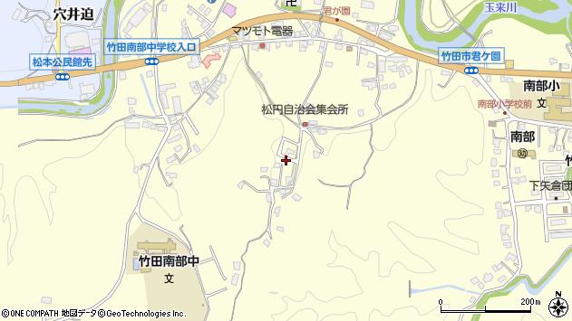 大分県竹田市君ケ園801周辺の地図