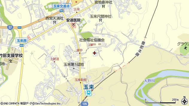 大分県竹田市玉来1301周辺の地図