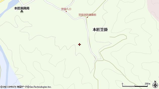 大分県佐伯市本匠大字笠掛383周辺の地図