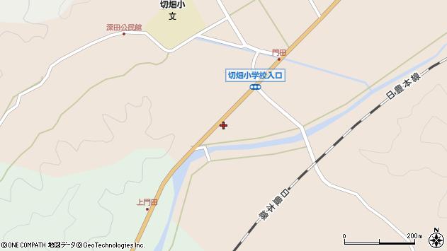 大分県佐伯市弥生大字門田858周辺の地図