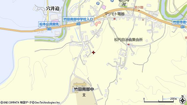 大分県竹田市君ケ園695周辺の地図
