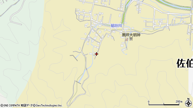 大分県佐伯市稲垣1243周辺の地図