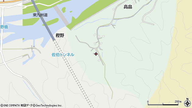 大分県佐伯市稲垣851周辺の地図