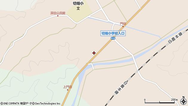 大分県佐伯市弥生大字門田864周辺の地図