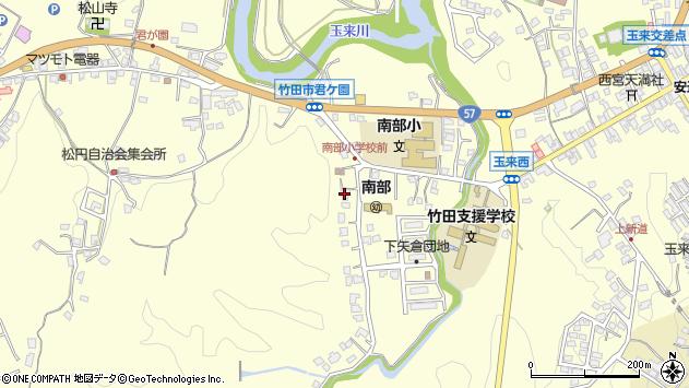 大分県竹田市君ケ園1079周辺の地図