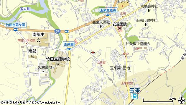 大分県竹田市玉来1136周辺の地図