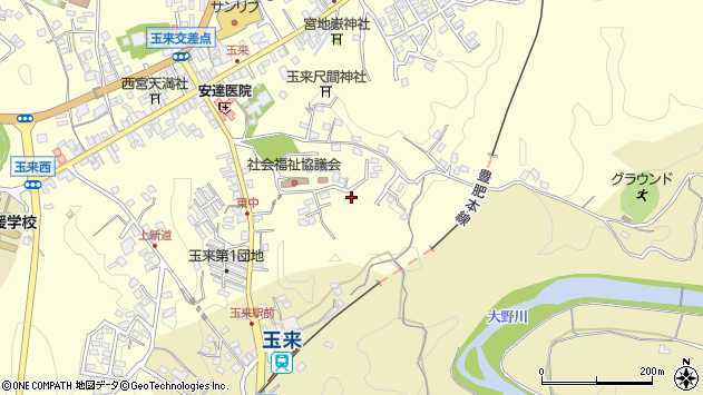 大分県竹田市玉来1382周辺の地図