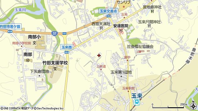 大分県竹田市玉来1152周辺の地図