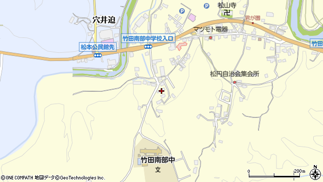 大分県竹田市君ケ園701周辺の地図