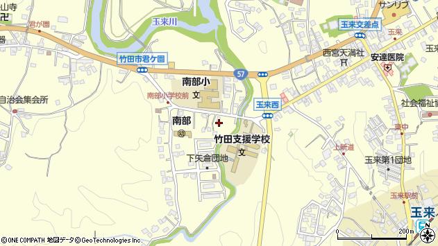 大分県竹田市君ケ園1012周辺の地図