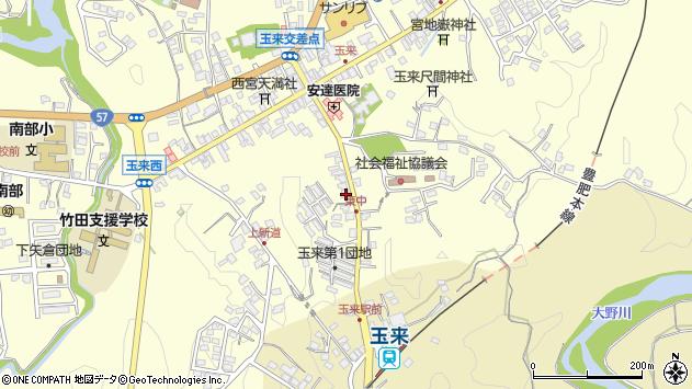 大分県竹田市玉来1231周辺の地図