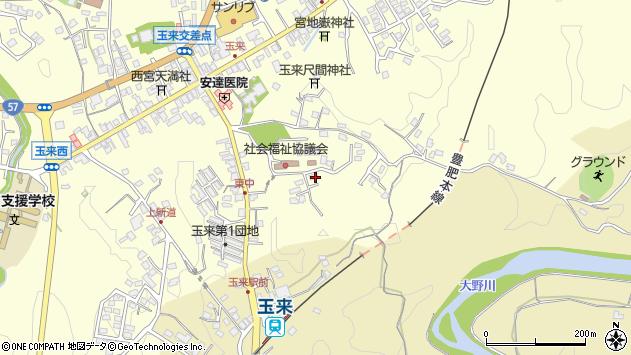 大分県竹田市玉来1348周辺の地図