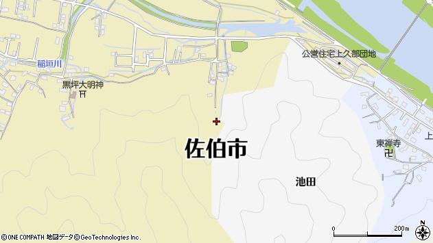 大分県佐伯市稲垣2050周辺の地図