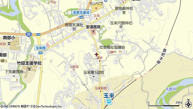 大分県竹田市玉来1232周辺の地図