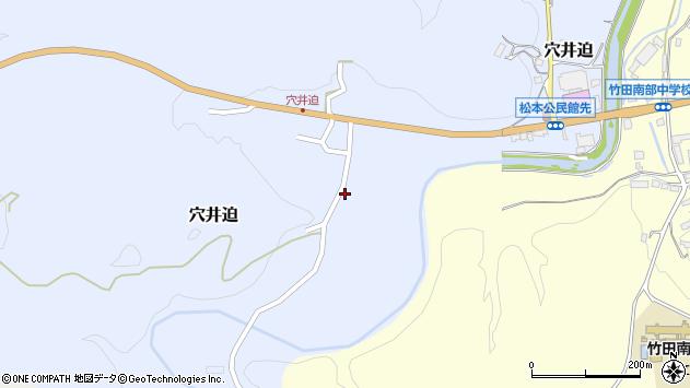 大分県竹田市穴井迫594周辺の地図