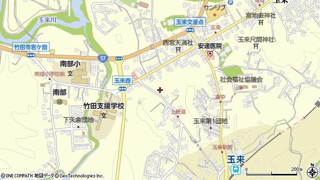 大分県竹田市玉来1137周辺の地図