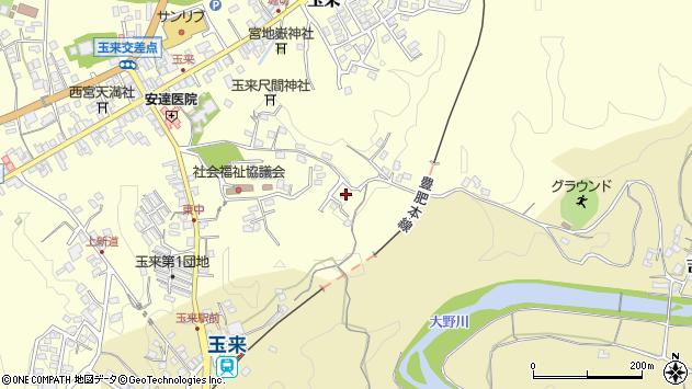 大分県竹田市玉来1373周辺の地図