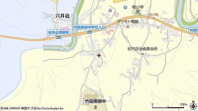 大分県竹田市君ケ園661周辺の地図