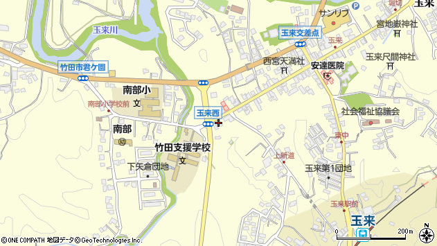 大分県竹田市玉来1046周辺の地図