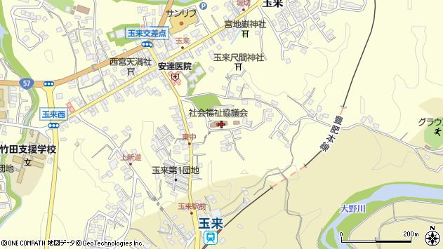 大分県竹田市玉来1299周辺の地図