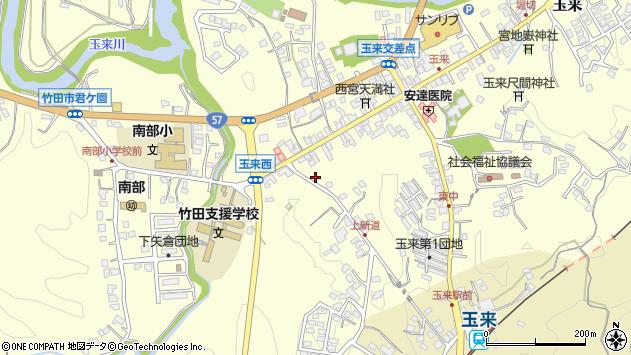 大分県竹田市玉来1140周辺の地図