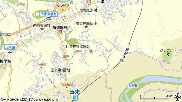 大分県竹田市玉来1387周辺の地図