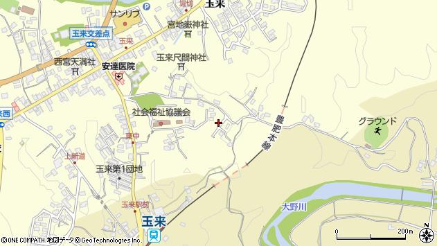 大分県竹田市玉来1365周辺の地図