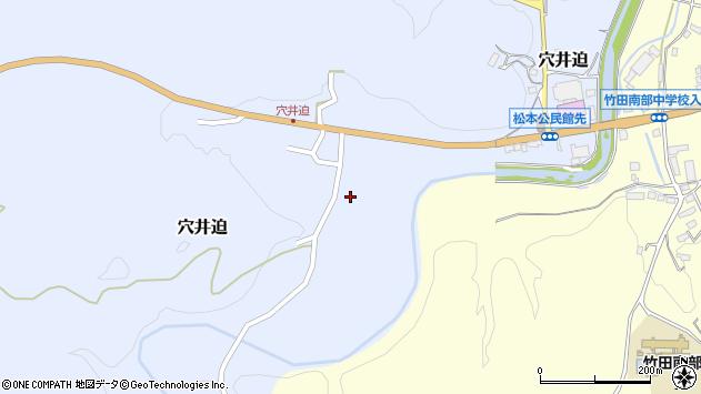 大分県竹田市穴井迫596周辺の地図