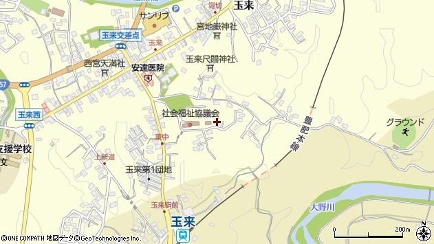 大分県竹田市玉来1386周辺の地図